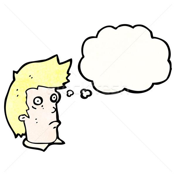 cartoon staring man Stock photo © lineartestpilot