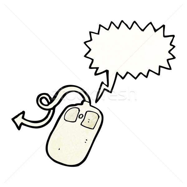 Desenho animado mouse de computador mouse retro desenho bonitinho Foto stock © lineartestpilot