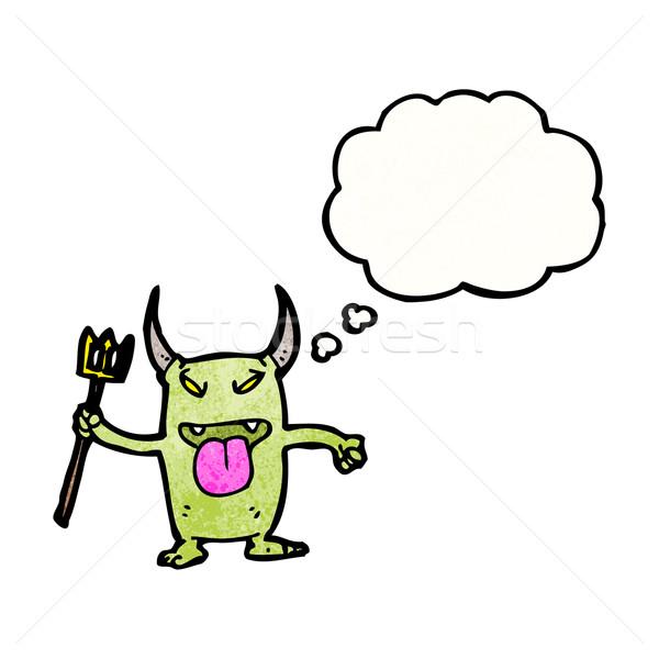 naughty little devil cartoon Stock photo © lineartestpilot