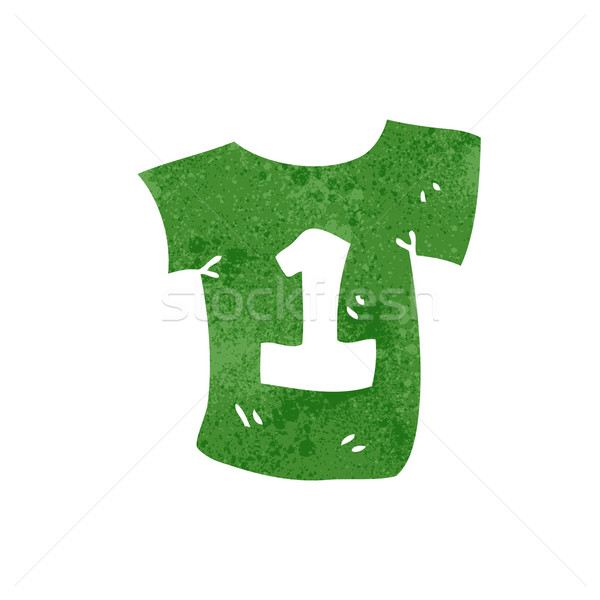 retro cartoon numbered sports shirt Stock photo © lineartestpilot