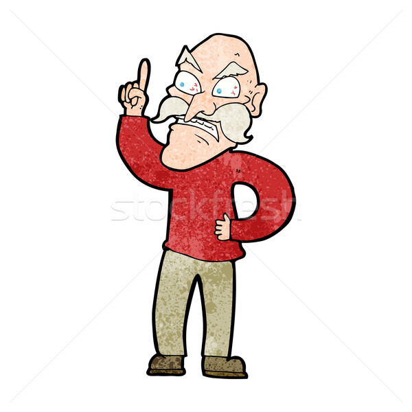 cartoon old man laying down rules Stock photo © lineartestpilot