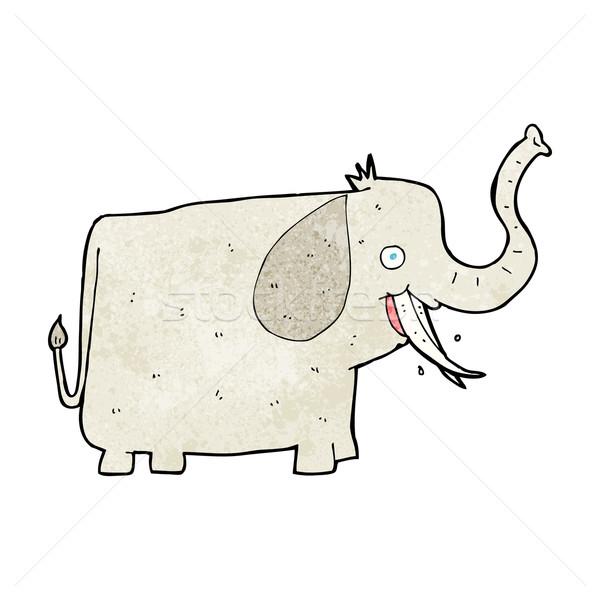 Cartoon szczęśliwy słoń projektu sztuki zwierząt Zdjęcia stock © lineartestpilot
