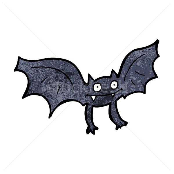 Cartoon vampire bat design art rétro Photo stock © lineartestpilot