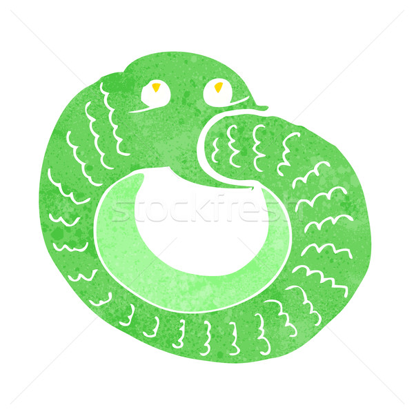 Cartoon serpent manger propre queue design Photo stock © lineartestpilot