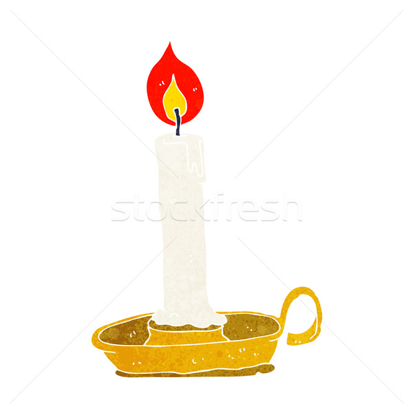 cartoon old candlestick Stock photo © lineartestpilot