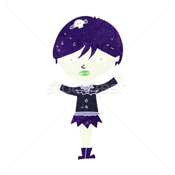 Desenho animado vampiro menina projeto arte Foto stock © lineartestpilot
