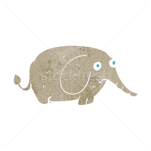 Cartoon smutne mały słoń strony projektu Zdjęcia stock © lineartestpilot
