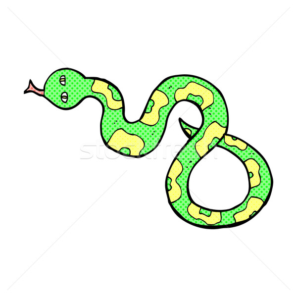 comic cartoon snake Stock photo © lineartestpilot