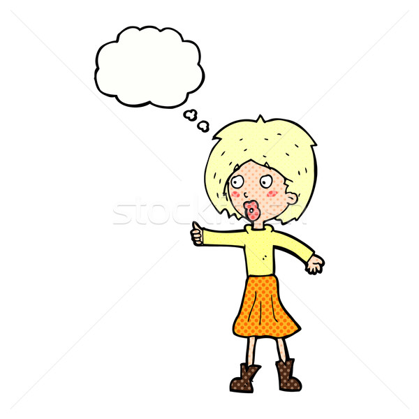 cartoon woman  with thought bubble Stock photo © lineartestpilot