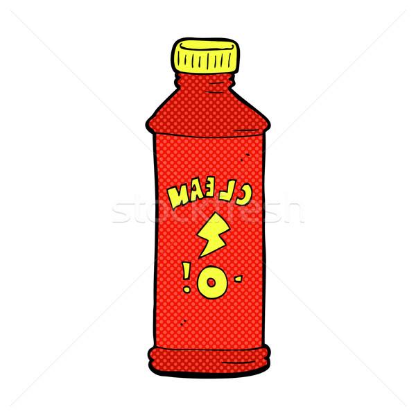 Komiks cartoon czyszczenia produktu retro komiks Zdjęcia stock © lineartestpilot