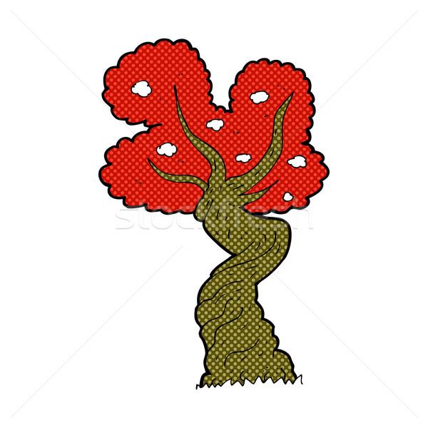 comic cartoon twisted old tree Stock photo © lineartestpilot