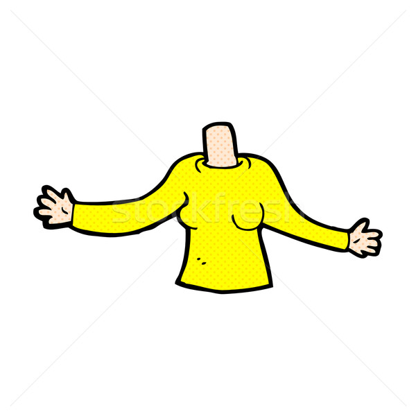 comic cartoon body (mix and match comic cartoons or add own phot Stock photo © lineartestpilot