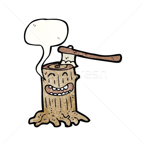 tree stump cartoon character Stock photo © lineartestpilot