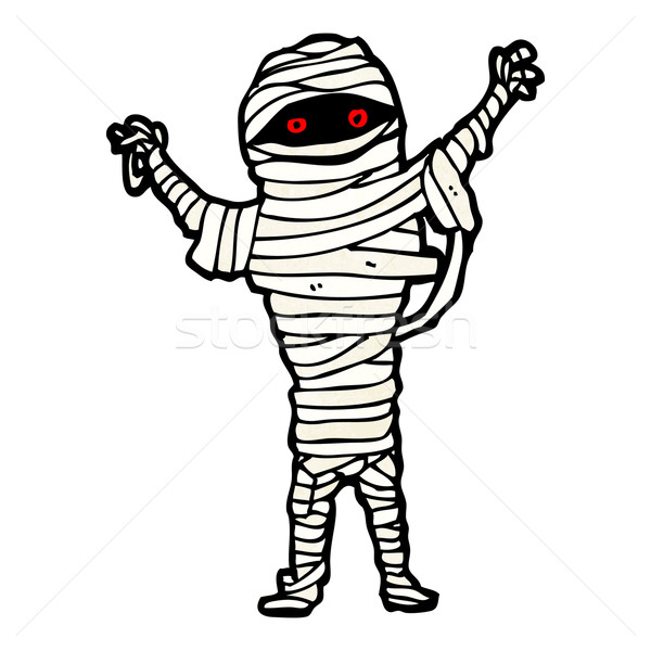 halloween mummy cartoon Stock photo © lineartestpilot