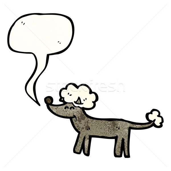 Cartoon barboncino retro disegno cute illustrazione Foto d'archivio © lineartestpilot