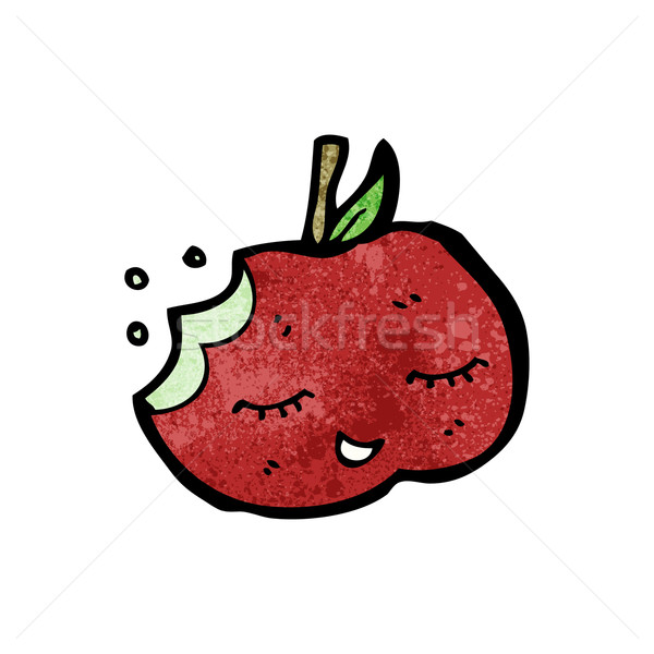 bitten apple cartoon Stock photo © lineartestpilot