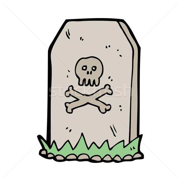 Cartoon grave main design fou Photo stock © lineartestpilot