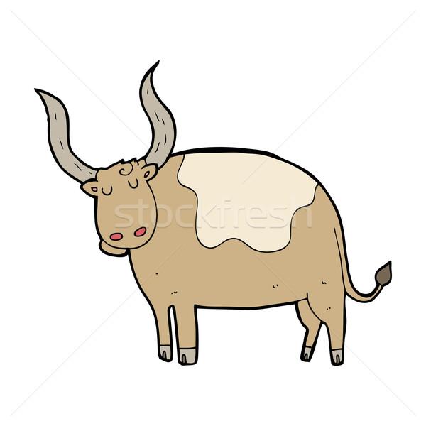 Stock photo: cartoon ox