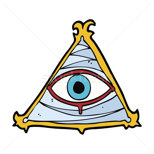 Cartoon мистик глаза символ стороны дизайна Сток-фото © lineartestpilot