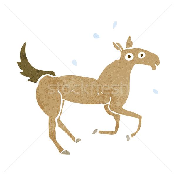 cartoon horse sweating Stock photo © lineartestpilot