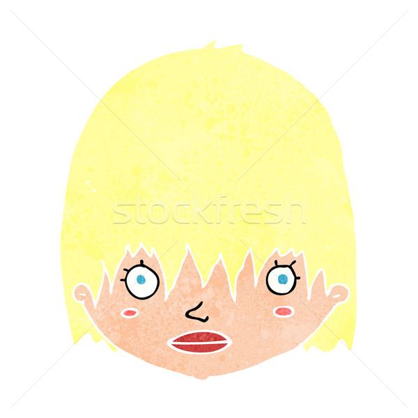 Rajz bámul nő kéz arc terv Stock fotó © lineartestpilot