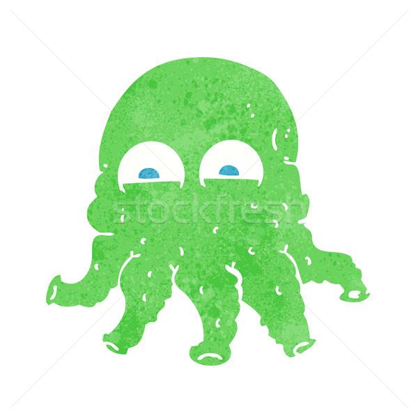 Cartoon straniero calamari faccia mano design Foto d'archivio © lineartestpilot