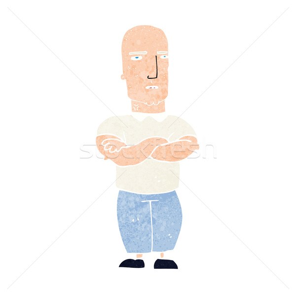 cartoon annoyed bald man Stock photo © lineartestpilot