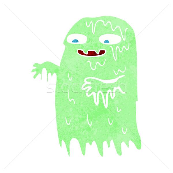 Cartoon слизь Ghost стороны дизайна Crazy Сток-фото © lineartestpilot