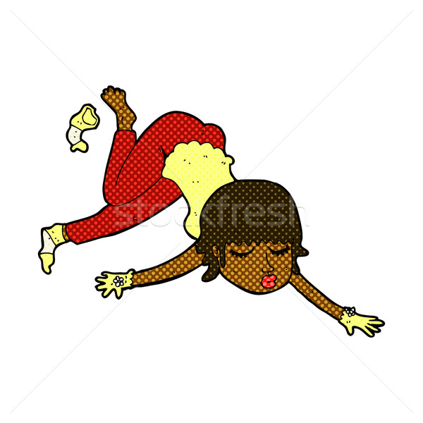 comic cartoon woman floating Stock photo © lineartestpilot