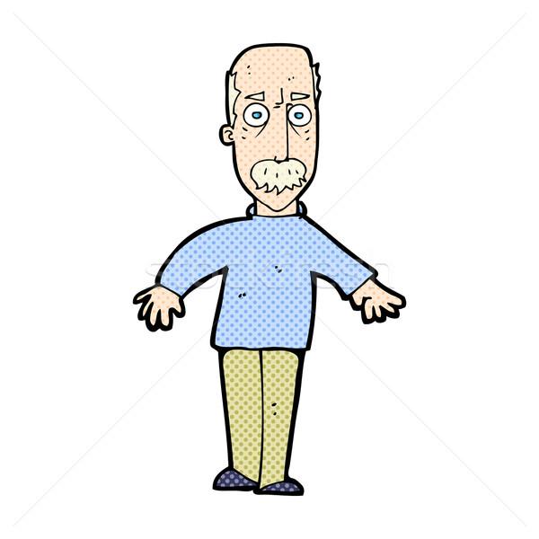 Cômico desenho animado irritado velho retro Foto stock © lineartestpilot