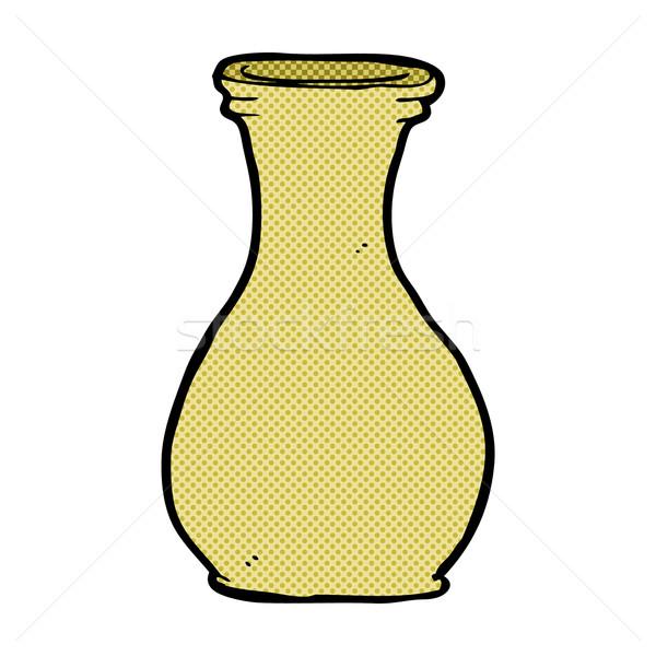 Képregény rajz váza retro képregény stílus Stock fotó © lineartestpilot
