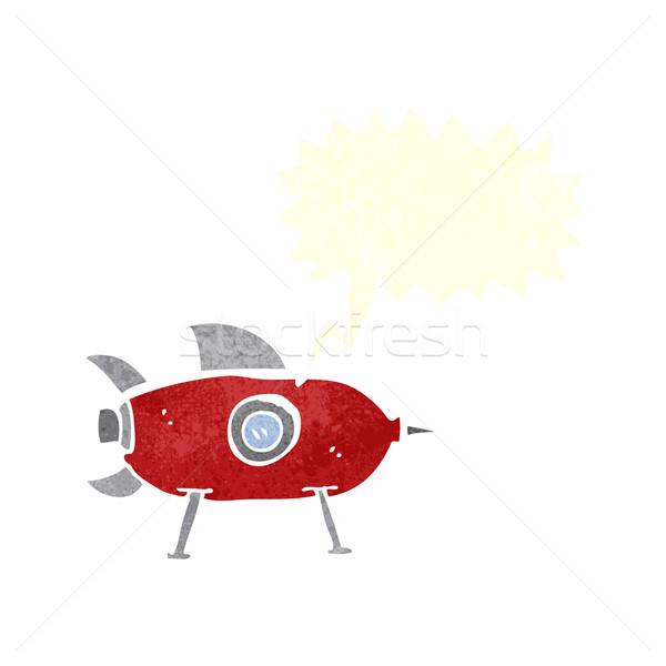 漫画 スペース ロケット 吹き出し 手 デザイン ストックフォト © lineartestpilot