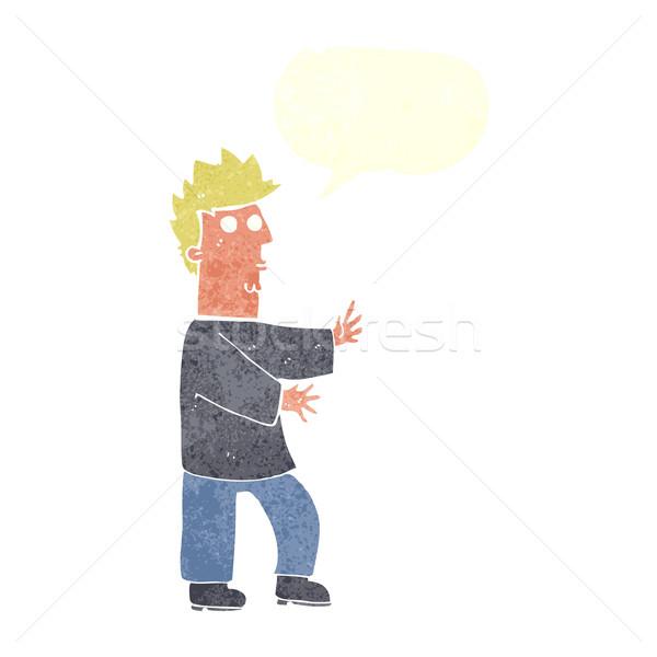 漫画 神経質な 男 吹き出し 手 ストックフォト © lineartestpilot