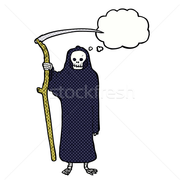 death cartoon with thought bubble Stock photo © lineartestpilot