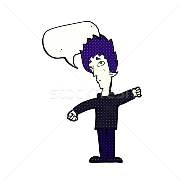 漫画 吸血鬼 男 吹き出し 手 デザイン ストックフォト © lineartestpilot