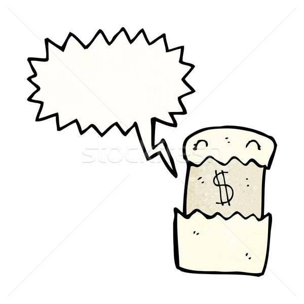 Cartoon financiële brief textuur hand gelukkig Stockfoto © lineartestpilot