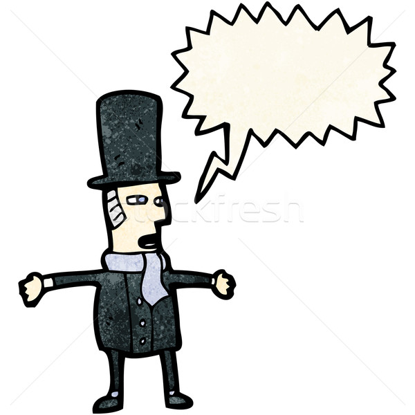 cartoon victorian gentleman Stock photo © lineartestpilot
