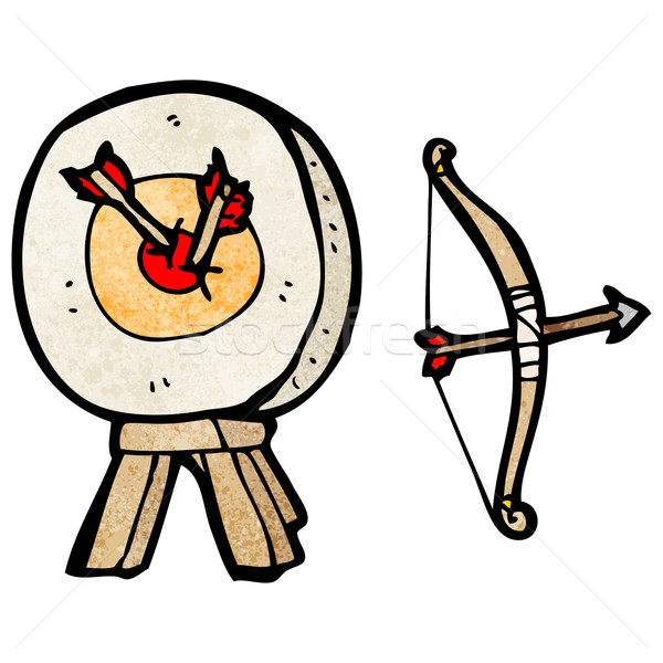 archery target and bow cartoon Stock photo © lineartestpilot