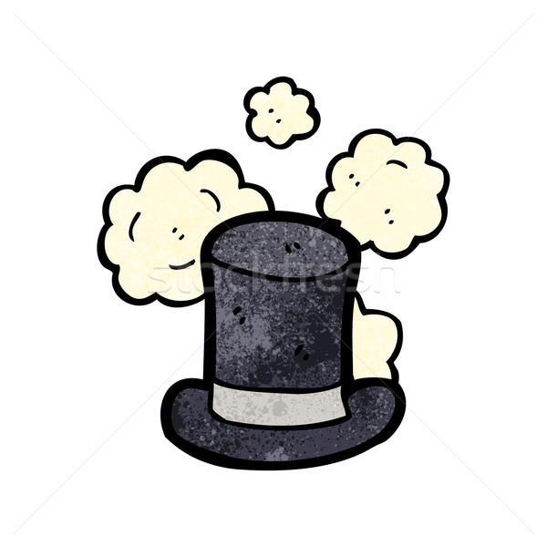 dusty old top hat cartoon Stock photo © lineartestpilot