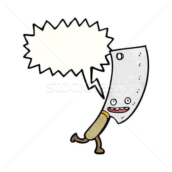 Stock photo: meat cleaver cartoon character