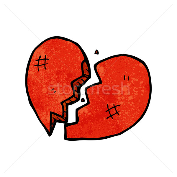 Broken Heart Symbol Vector Illustration Lineartestpilot 3142821