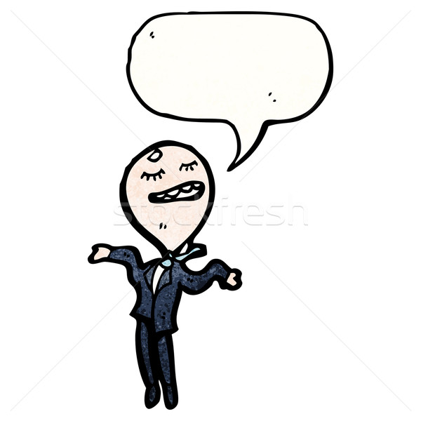 cartoon egotistical businessman Stock photo © lineartestpilot