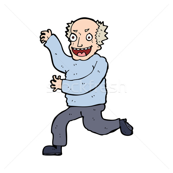 cartoon evil old man Stock photo © lineartestpilot