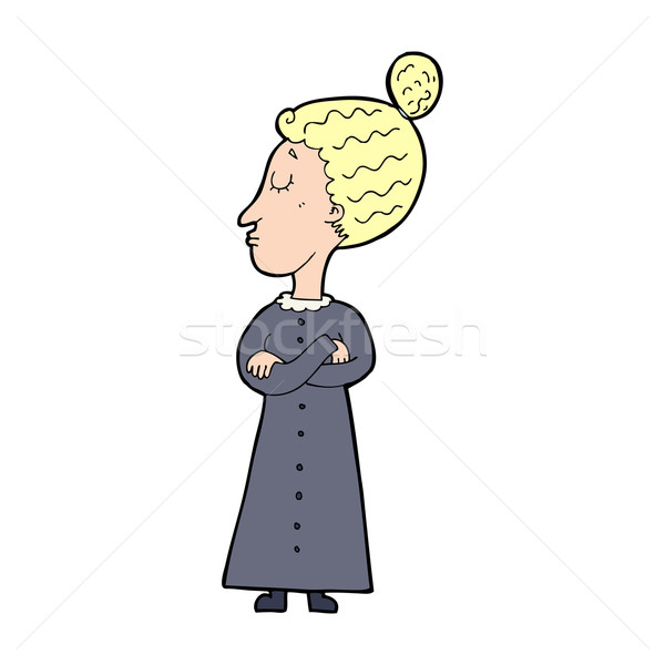 cartoon strict victorian teacher Stock photo © lineartestpilot