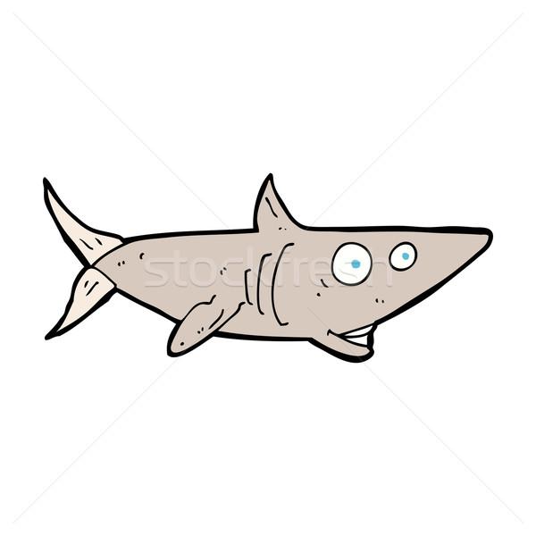 Cartoon heureux requin main design fou Photo stock © lineartestpilot