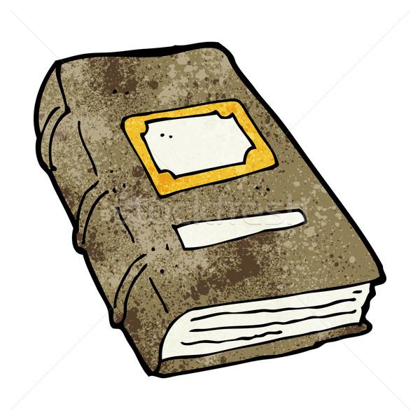 Karikatür eski kitap el kitap dizayn sanat Stok fotoğraf © lineartestpilot
