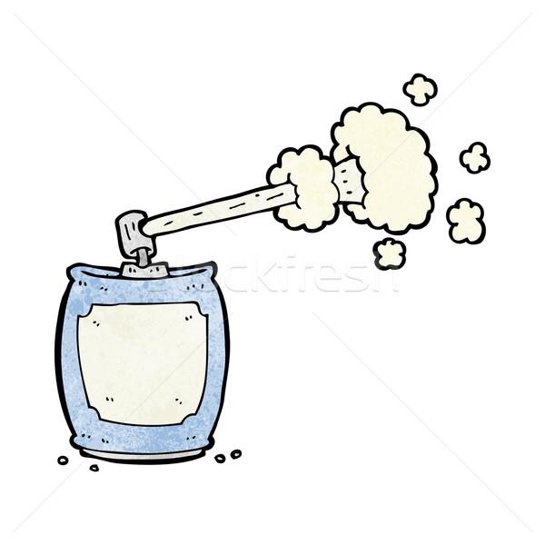 Desenho animado aerossol spray lata projeto arte Foto stock © lineartestpilot