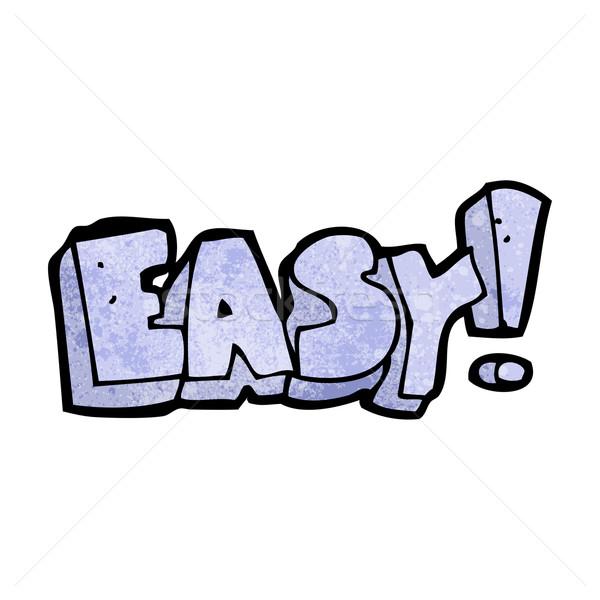 Cartoon facile signe design art rétro Photo stock © lineartestpilot
