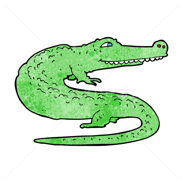 Cartoon crocodile main design animaux fou Photo stock © lineartestpilot