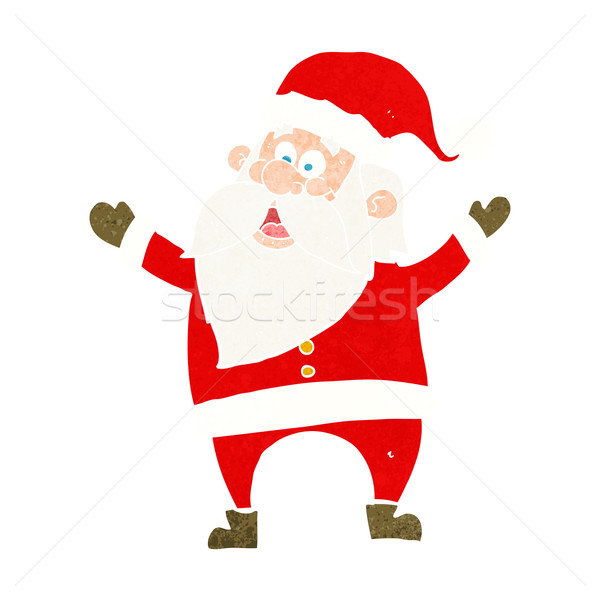 Stock photo: cartoon santa claus